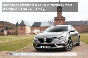 Essai Renault Talisman dCi 160 EDC6 Initiale Paris