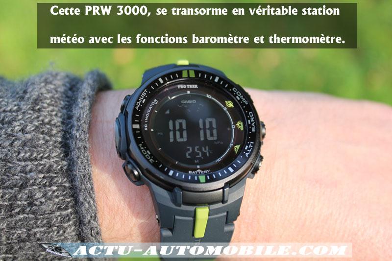 Baromètre Casio Pro Trek PRW3000