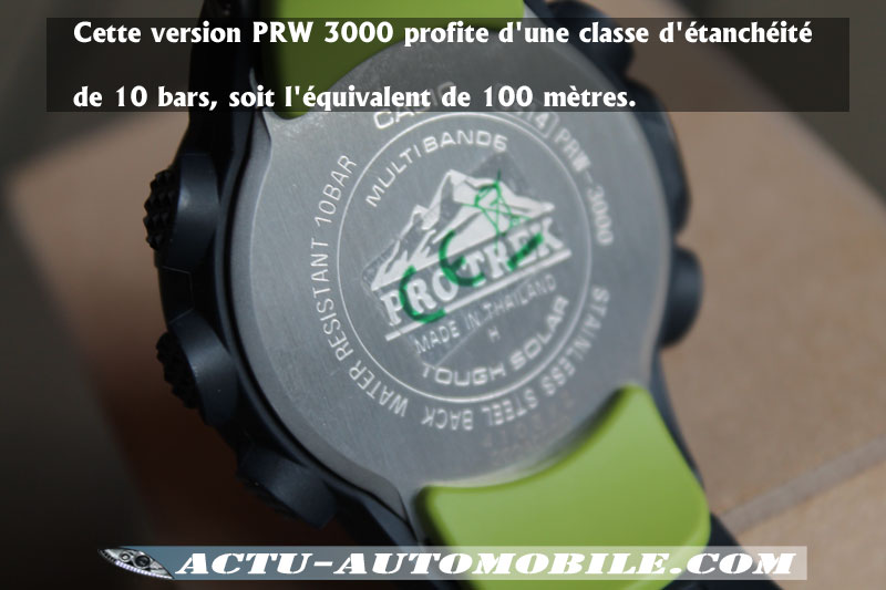 Etanchéité Casio Pro trek PRW 3000
