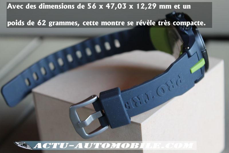 dimensions Casio PRO TREK PRW 3000