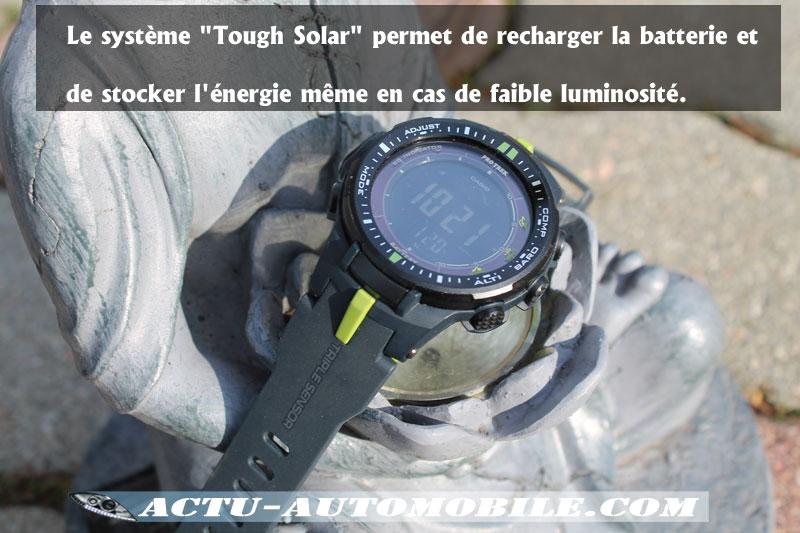 Casio Protrek batterie solaire