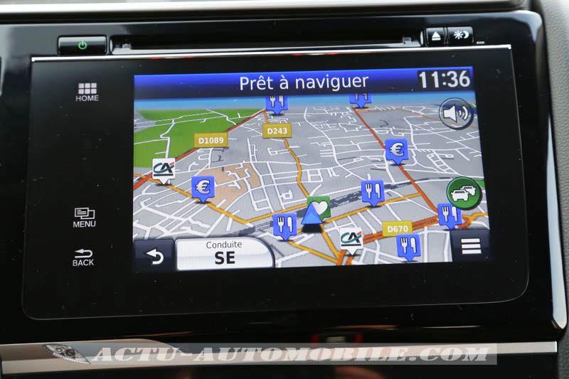 Système de navigation de la Honda Jazz