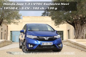 Essai nouvelle Honda Jazz 1.3 i-VTEC Exclusive Navi