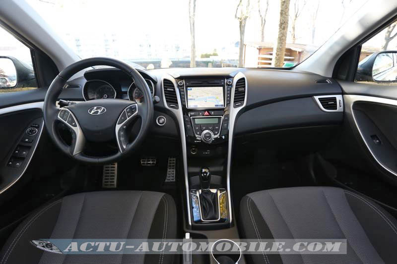 Planche de bord de la Hyundai i30 restylée