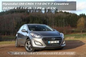 Essai Hyundai i30 restylée CRDi 110 DCT Créative