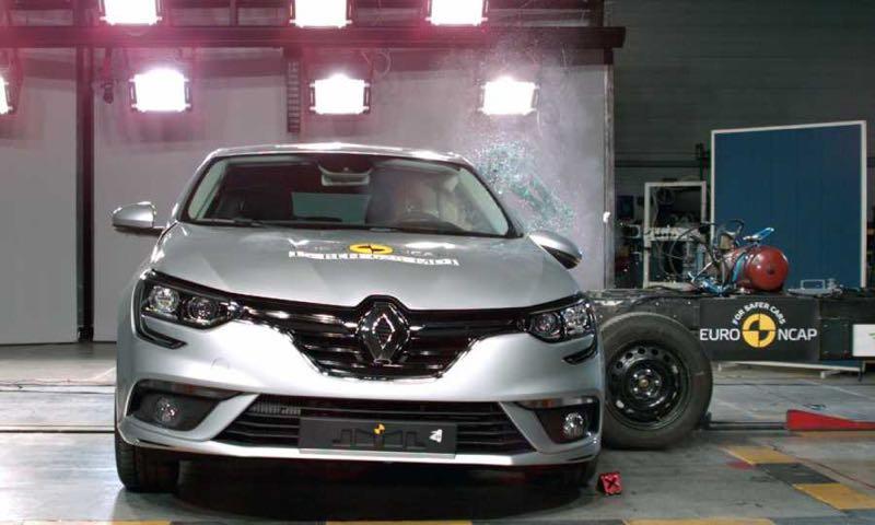 Renault Mégane au crash test Euro NCAP