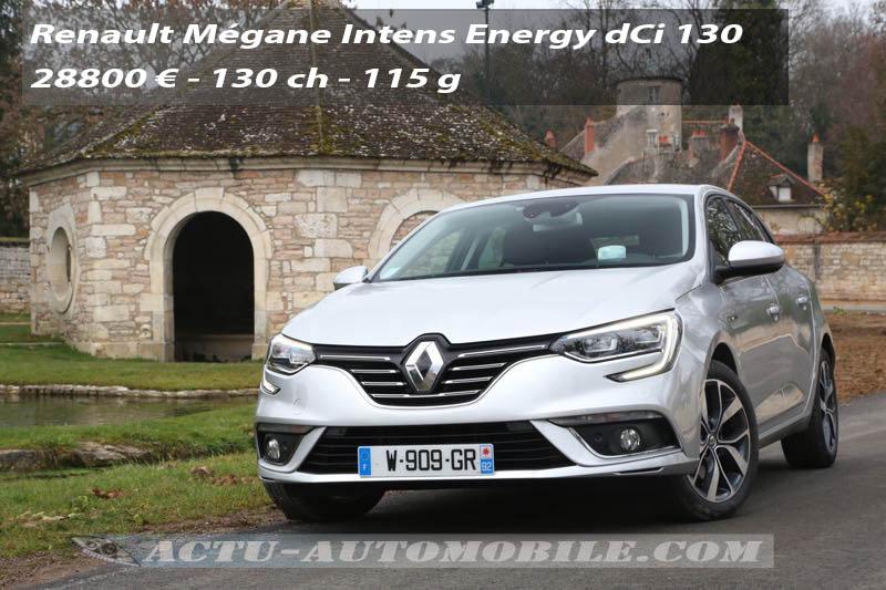 Essai nouvelle Renault Mégane dCi 130 Intens