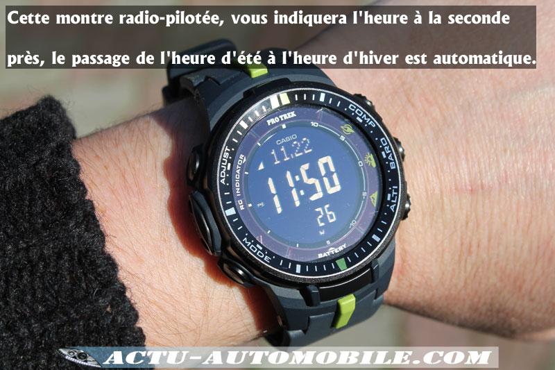 Heure radio pilotée Casio PRW 3000