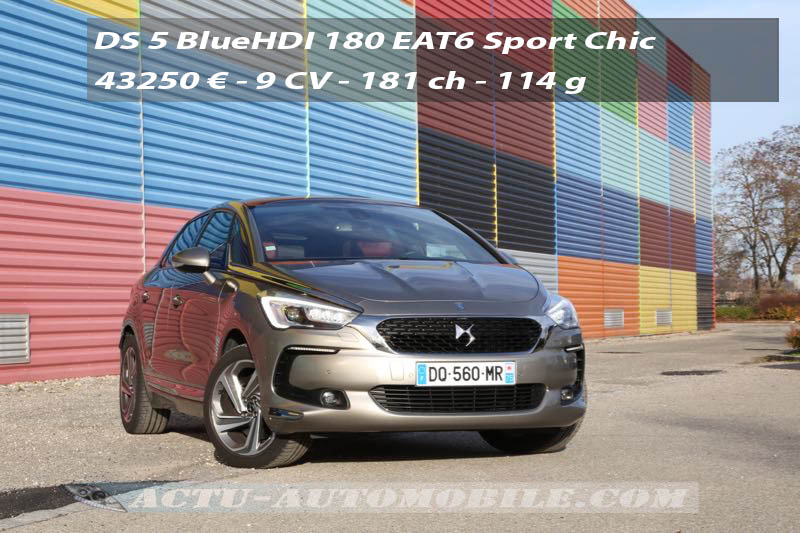 Essai DS 5 restylée BlueHDI 180 EAT6