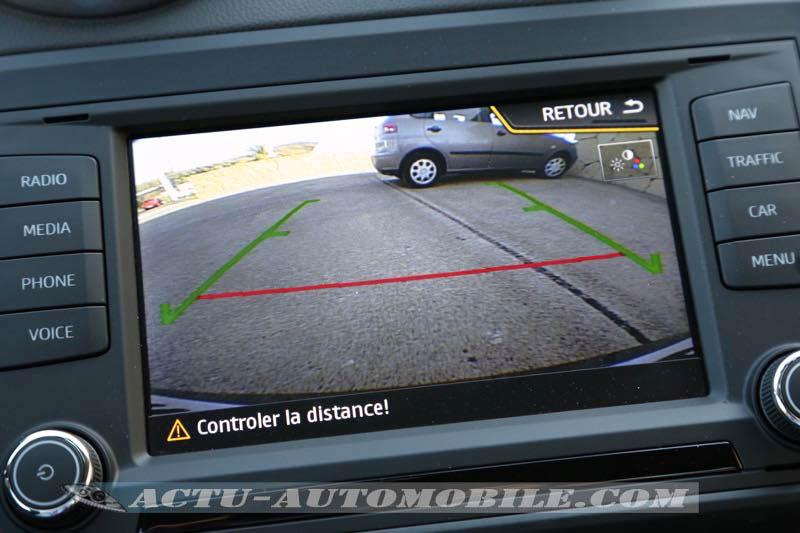 Caméra de recul de la Seat Ibiza