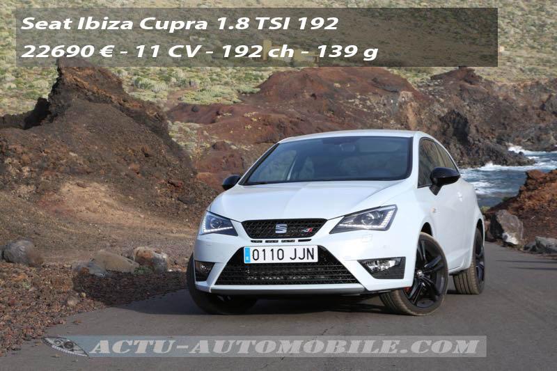 Essai Seat Ibiza Cupra restylée 1.8 TSI 192
