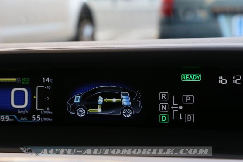 Ecran supérieur de la Toyota Prius 2016