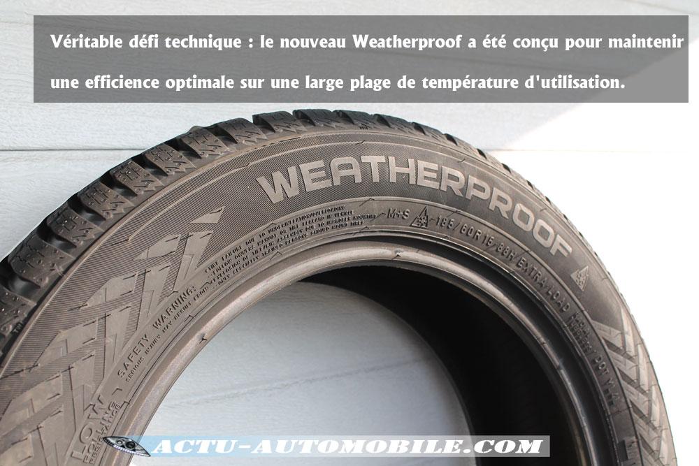 essai pneumatique nokian weatherproof le pneu qui se