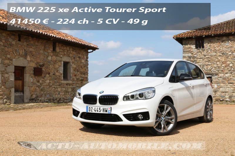 Essai BMW Série 2 Active Tourer 225 xe