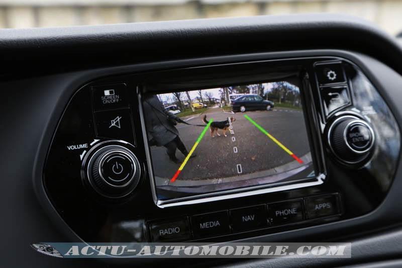 Caméra de recul sur la Fiat Tipo