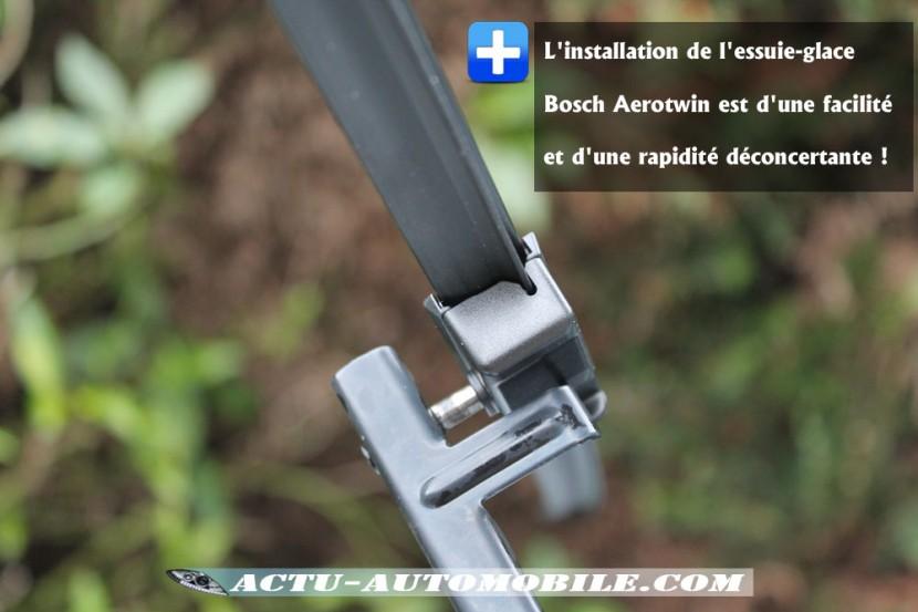 Montage essuie-glace Bosch Aerotwin