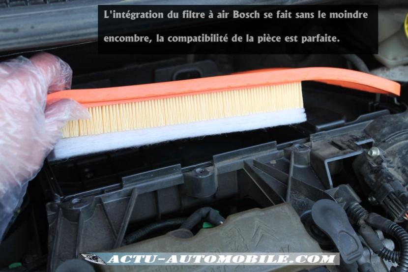 Mise en place du nouveau filtre à air Bosch