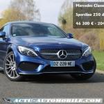 Essai nouvelle Mercedes Classe C Coupé 250d Sportline