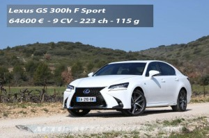 Essai Lexus GS 300h F Sport