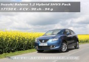 Essai Suzuki Baleno 1.2 Hybrid SHVS
