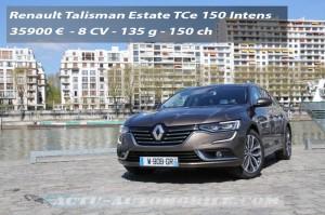 Essai Renault Talisman Estate TCe 150 EDC7