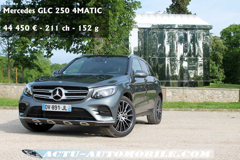 essai mercedes classe glc 250 essence 4matic sportline actu automobile. Black Bedroom Furniture Sets. Home Design Ideas