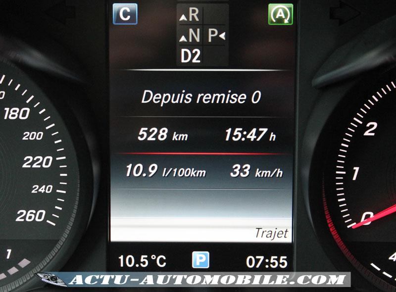 10,9L/100 km en consommation Moyenne du Mercedes GLC 250 4Matic