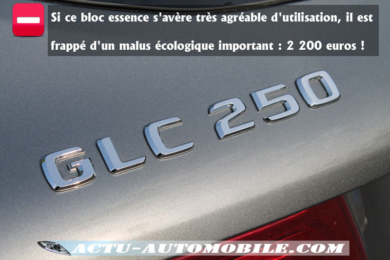Malus écologique / Rejet de Co2 GLC 250 4Matic