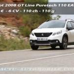 Essai Peugeot 2008 restylé GT Line Puretech 110 EAT6