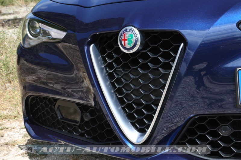 Calandre de la nouvelle Alfa Romeo Giulia