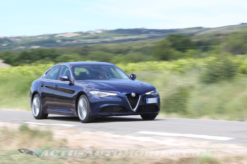 Essai Alfa Romeo Giulia 2.2 Diesel 180 AT8