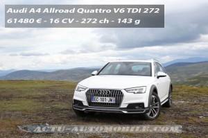Essai nouvelle Audi A4 Allroad Quattro V6 TDI 272