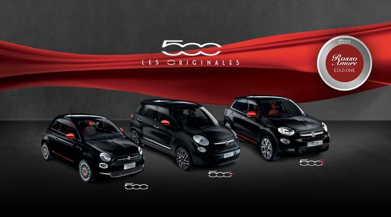 Série limitée : Fiat 500L Rosso Amore