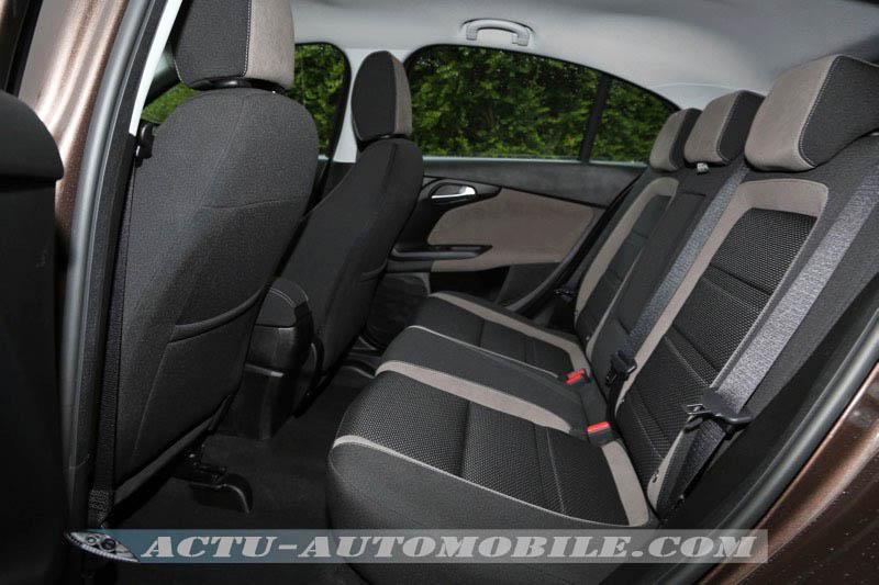 Places arrière de la Fiat Tipo 5 portes