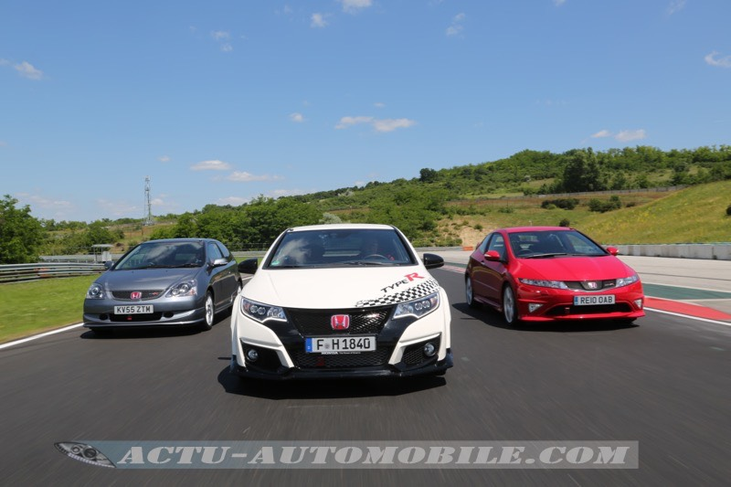 Honda Civic Type R sur le Hungaroring