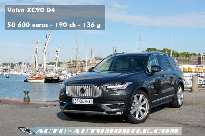 essai nouveau volvo xc90 d4 inscription actu automobile. Black Bedroom Furniture Sets. Home Design Ideas
