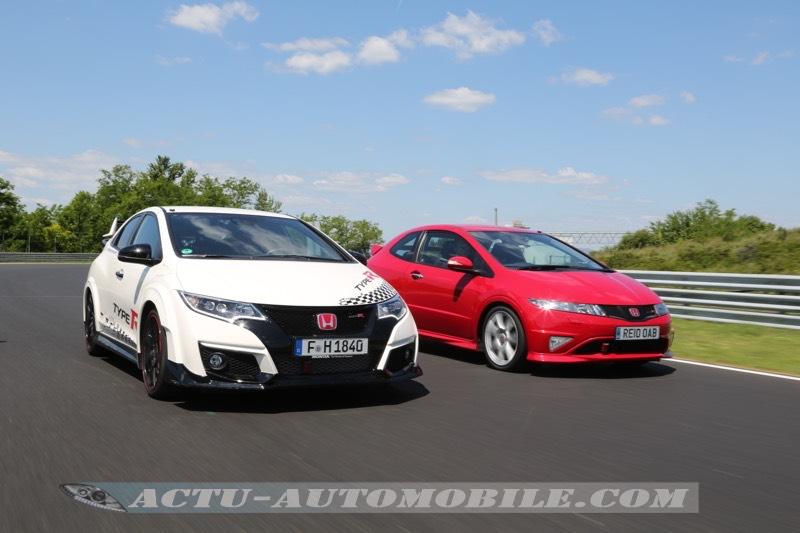 Les 2 dernières générations de Honda Civic Type R