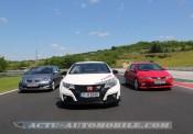 Trois générations de Honda Civic Type R sur le Hungaroring