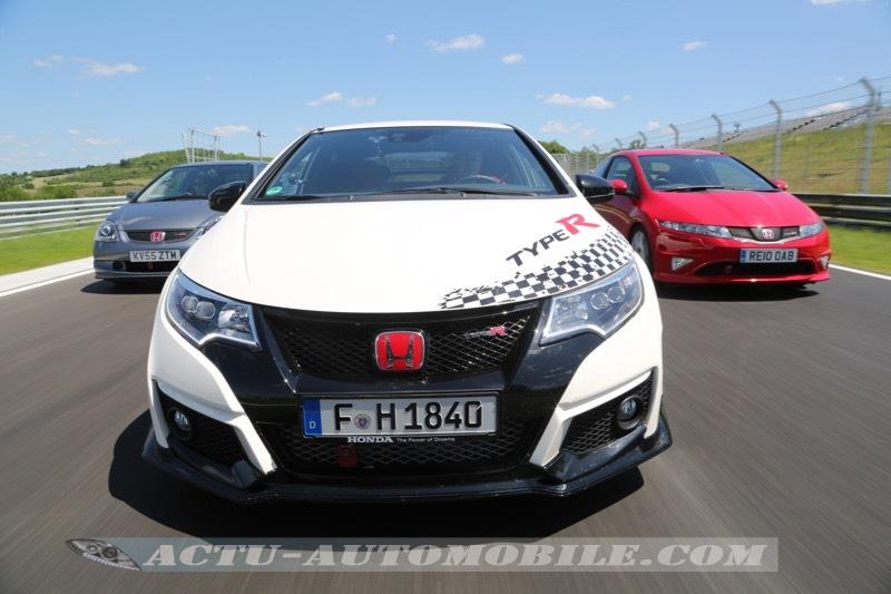 Les 3 générations de Honda Civic Type R