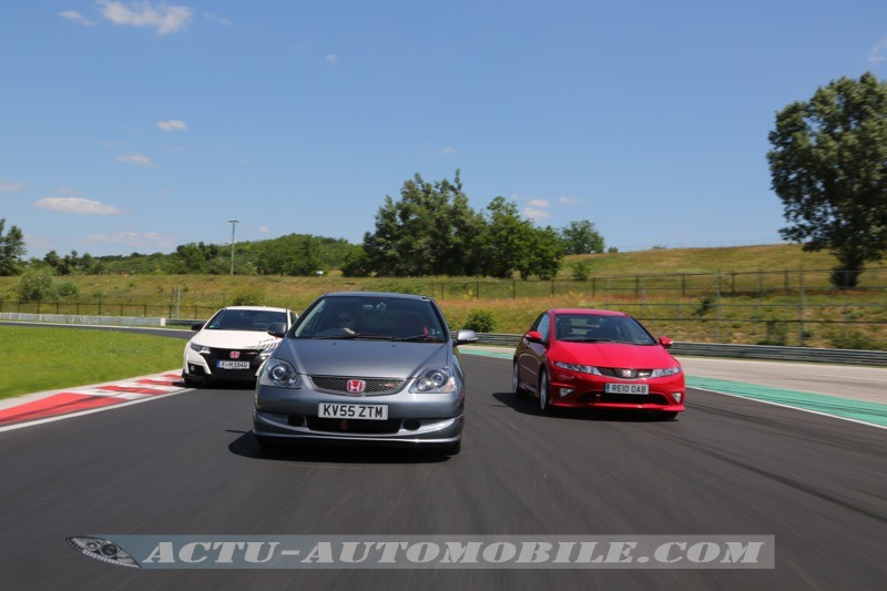 Honda Civic Type R EP3 sur le Hungaroring