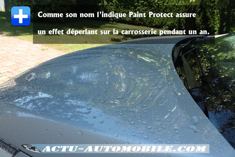 Test de résistance à l'eau Paint Protect