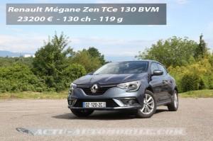 Essai Renault Mégane TCe 130 Zen