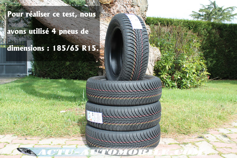Protocol de test Le Goodyear Vector 4Seasons Gen-2 au freinage