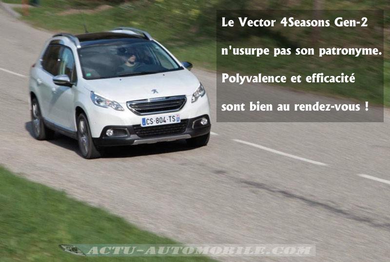 Le pneumatique Vector 4Seasons Gen-2 en conduite dynamique