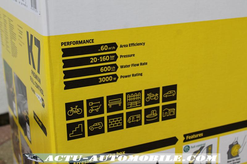 Spécifications techniques Karcher K7 Premium Full Control