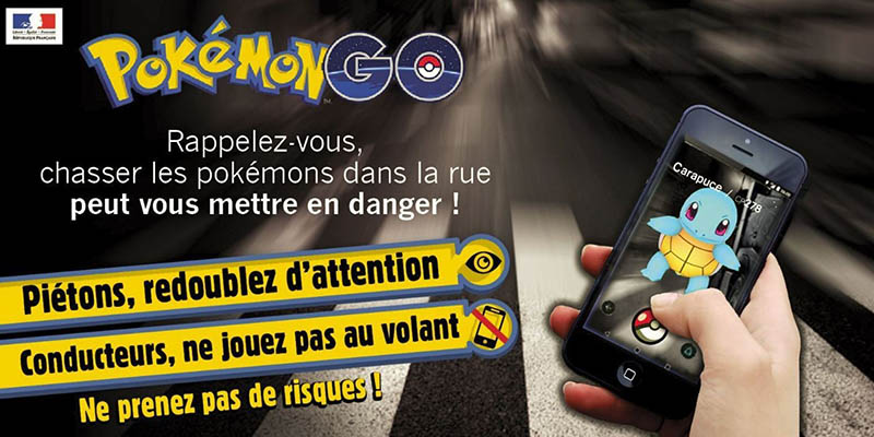 Pokémon Go en voiture : attention danger