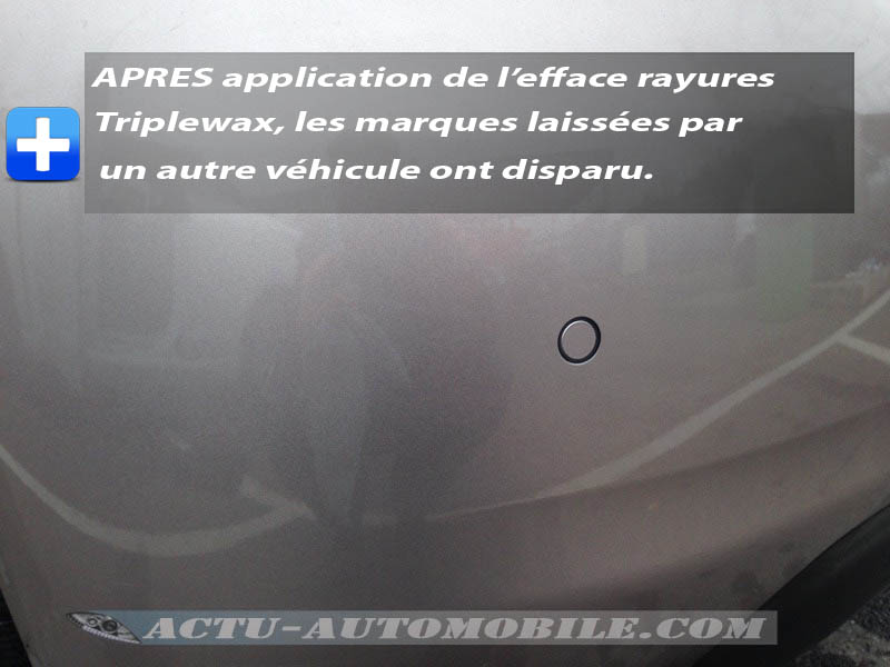 Essai de l'Efface Rayures Triplewax