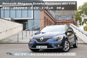Essai nouvelle Renault Mégane Estate Business