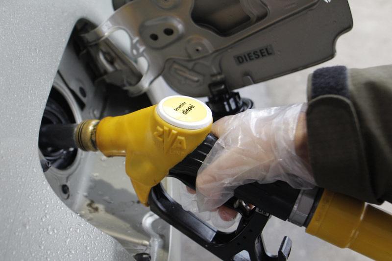 Plein carburant gazole sur une voiture diesel