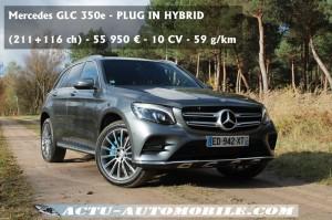 Essai Mercedes GLC hybride